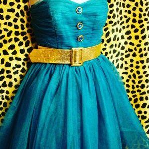 Betsey Johnson Teal Tulle Dress